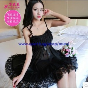 Ms. pajamas summer sexy Contains Adult sexy lingerie large size sling Lingerie lace transparent thin