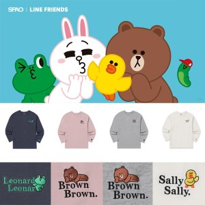 [SPAO x LINE FRIENDS] Short sleeves TEE 17type summer / stripe / neon / embroidery