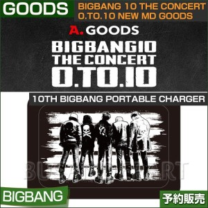 10th bigbang portable charger Ver 1 / BIGBANG 10 THE CONCERT 0.to.10 NEW MD GOODS【日本国内発送】