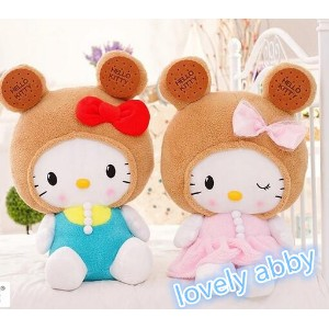 High Quality HELLO KITTY 50cm Biscuit Kitty Plush Toy  Stuffed Doll Toys  Hobbies Dolls  Stuffed...