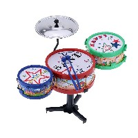 Set of Small Jazz Drum Kids Electronic Plastic Gift Toy Jazz Drum Musical Instrument