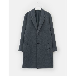 8SECONDS [LAB8] Tailored Collar Loose Fit Coat - Ash