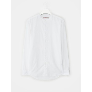 8SECONDS Basic Stand Collar Oxford Shirt - White