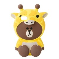 Line Friends Store Official Wanner Be G. Brown Silicone iPhone Case