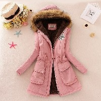 High Quality Winter Jacket Women  New Winter Womens Parka Casual Outwear Military Hooded Coat Fur Co