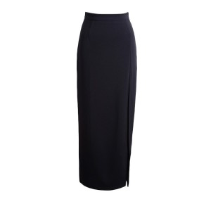 High Waist Solid High Slit Pencil Skirt