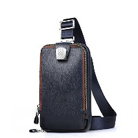(padieoe) Padieoe Mens Genuine Leather Crossbody Bag Chest Sling Backpack Body Shoulder Bag Pack