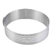 Adjustable Round Stainless Steel Cake Ring Mold Layer Slicer Cutter DIY Silver