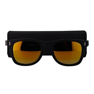 Marc by Marc Jacobs MMJ335/S Sunglasses Matte Black w/Multilayer Gold Mirror Lens DL5SQ MMJ335S