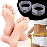 New 1Pairs Soft Silicone Magnetic Toe Ring Keep Slim Fitness Weight Loss Health Diet