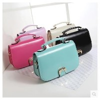 Korean version of the 2016 new summer fashion trend candy colors female bags shoulder diagonal Ms.
