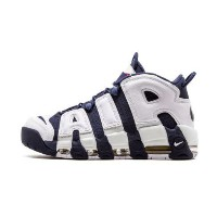 "Nike Air More Uptempo 2016 ""Olympic"" メンズ White/Midnight Navy-Metallic Gold-Sport Red ナイキ バッシュ..."