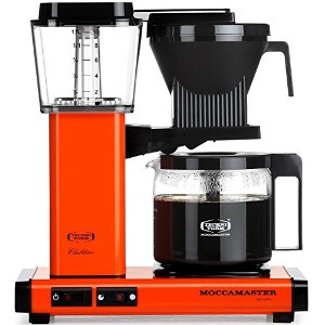 Moccamaster KBG 741 10-Cup Coffee Brewer with Glass Carafe, Orange [並行輸入品]