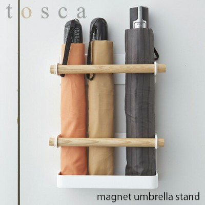 tosca/トスカ(山崎実業) マグネットアンブレラスタンド トスカ magnet umbrella stand 傘立て/玄関収納/磁石式/天然木/北欧