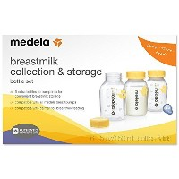 medela メデラ 150mlボトル6本セット 保存キャップ付き Medela 5 OZ/ 150 ml Breast Milk Collection Storage Bottles With...