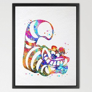 Dignovel Studios 11X14 Cheshire Cat Alice in Wonderland Watercolor Print Wedding Gift Print Nursery...