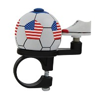M-Wave Stars N-Stripes Soccer Bicycle Bell, Red/White/Blue by M-Wave