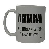 Best面白いコーヒーマグVegetarian Old Indian Word For BadハンターノベルティCupジョークギャグGreat Gift Idea For Office...