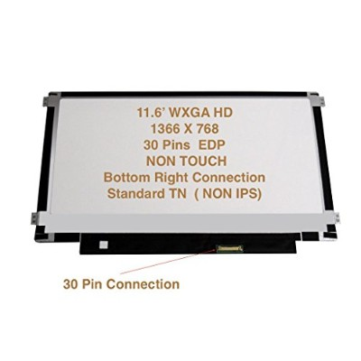 """Lenovo 00hm194 Replacement LAPTOP LCD Screen 11.6"""" WXGA HD LED DIODE (Substitute Replacement LCD..."""
