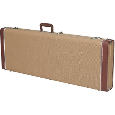 Fender ハードケース G&G Deluxe Jazz Bass Hardshell Case, Tweed with Red Poodle Plush Interior