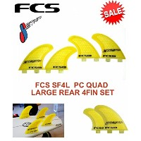 FCS (エフシーエス) SF4L PC QUAD (LARGE REAR) SET クアッド フィン 4枚セット STRETCH FIN