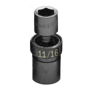 SK Hand Tool 34322 0.5 in. Drive, 6-Point Standard Swivel Fractional Impact Socket - 10.0 6 in.