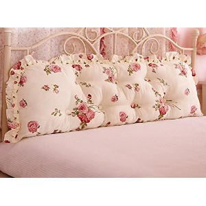 Bed Double Soft Bag Cushion Triangle Sofa Waist Large Back Cotton Pillow ( 色 : # 9 )
