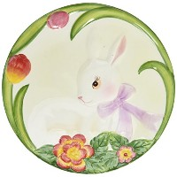 CG 10277Painted Bunny with Bowフラワープレート( Set of 4)