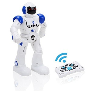 Wishtime ロボット おもちゃ 人型ロボット 多機能ロボット 男の子 贈り物 誕生日 ギフト 入園 プレゼント子供の誕生日プレゼント子供 知育玩具 ブルー 6歳以上 ZM17052
