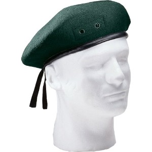 Rothco G.I. Type Inspection Ready Beret:6 1/2~7 3/4【Green】ロスコ ベレー帽 (7 1/4)