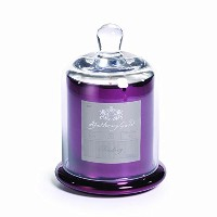 Zodax Apothecary Guild Scented Candle Jar withガラスドームPlum Elderberry Medium