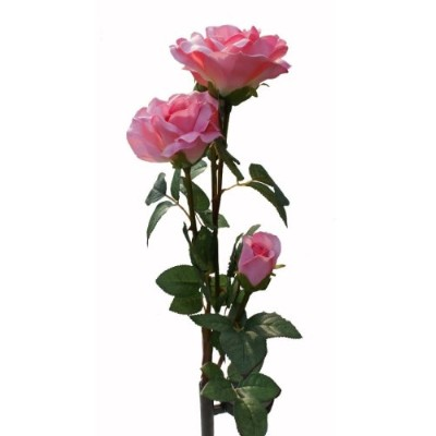 Solaration Solar Pink Rose Flower Lights Outdoor Decorative Lights Year-round, Great Gift! by...