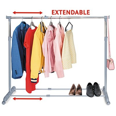 Tatkraft Party Telescopic Clothes Rail Extendable Space Chrome Plated Steel 161.5X44X166cm Be ready...
