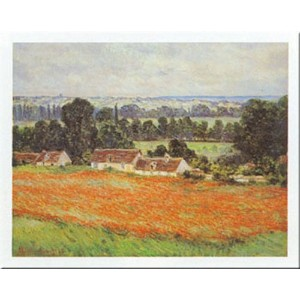 Campo Di Papaveri by Claude Monet 20 X 28アートプリントポスター