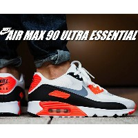 最大3,000円OFFクーポン発行中!!【ナイキ エア マックス 90】NIKE AIR MAX 90 ULTRA ESSENTIAL wht/cool gry-infrared-blk