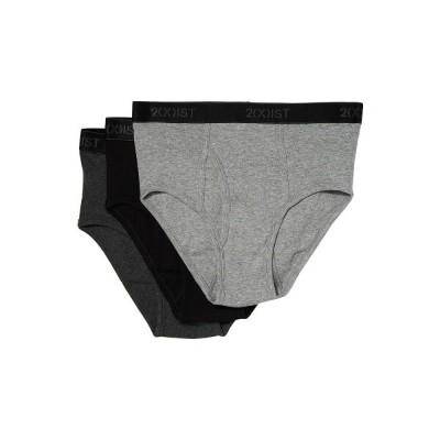 ツーイグジスト メンズ インナー・下着 ブリーフ【3-Pack Essential Fly Front Brief】Black/Grey Heather/Charcoal Heather