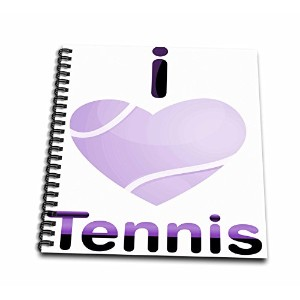 【Anne Marie Baughスポーツ AパープルI Love Tennis With a Heart Shapesテニスボール Drawing Book 12x12 memory book...