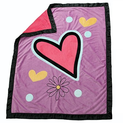 One Grace Place Sassy Shaylee Medium Quilt, Black, Pink and Purple by One Grace Place