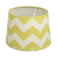 Lolli Living Lampshade, Green Zig Zag by Lolli Living