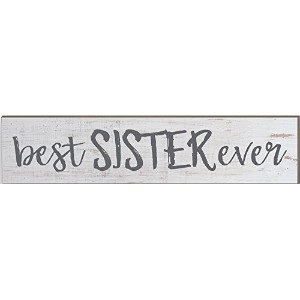 """Kindred Hearts 3"""" x13"""" Best Sister Ever Wall Plaque 3"""""""