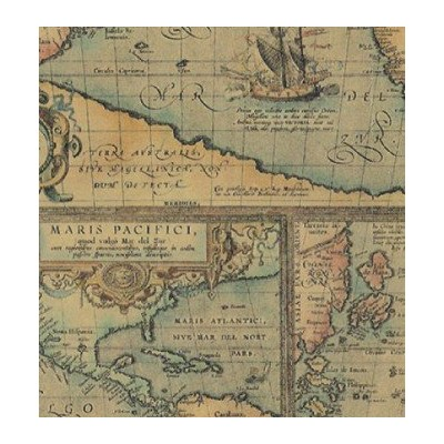 World Map Gift Wrapping Roll 24 X 15' - Birthday Everyday Gift Wrap Paper by Premium Gift Wrap