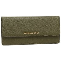 マイケルコース 財布 MICHAEL KORS 32F3GTVE7L 333 JET SET TRAVEL FLAT WALLET SAFFIANO LEATHER 18K レディース 長財布 無地...