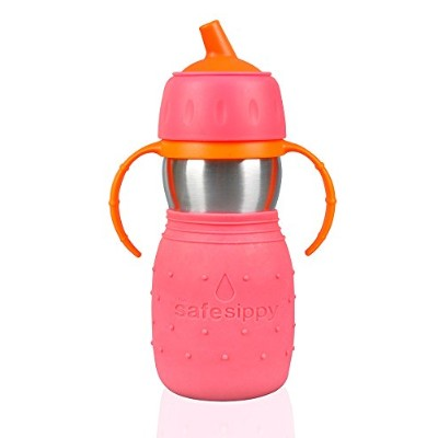 The Safe Sippy Cup, Pink by Kid Basix (English Manual)