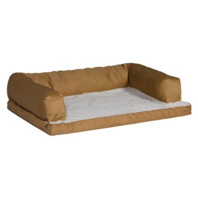 MidWest Quiet Time e'Sensuals Bolstered Orthopedic Dog Bed Sofa 36 Inches by 54 Inches in Tan. by...