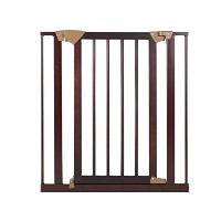 Baby Trend Tall Pressure Fit Wood and Metal Gate, Espresso by Baby Trend