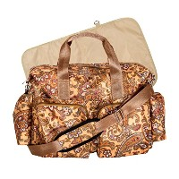 Trend Lab Paisley Brown Deluxe Duffle Diaper Bag, Paisley Brown by Trend Lab