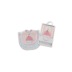 Baby Aspen Baby Cakes Bib and Burp Set, Pink/Teal, 0-6 Months by Baby Aspen