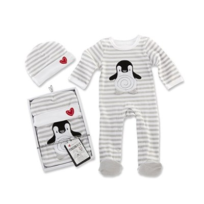 Baby Aspen Penguin PJ Gift Set, Black/White/Multi, 0-6 Months by Baby Aspen