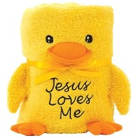 Brownlow Kitchen Baby Blankie with Jesus Loves Me, Duck by Brownlow Kitchen