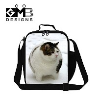 Generic Cute Cat Lunch Bags for Kids School Food Bag Personalized Work Lunch Bag by GIVE ME BAG